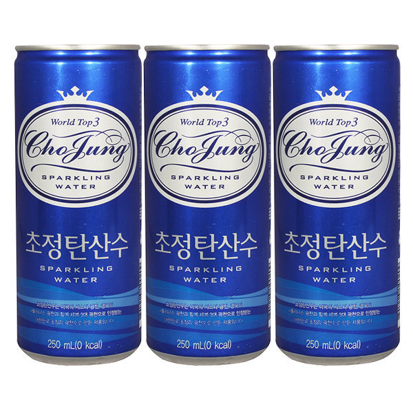 [초정탄산수] 초정탄산수 플레인 250ml X 30캔 / 탄산음료 음료수