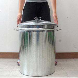 양철쓰레기통(60x46)/빈티지쓰레기통/양철소품/휴지통