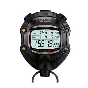 CASIO 1/1000초 스톱워치 랩/스플릿 HS-80TW-1