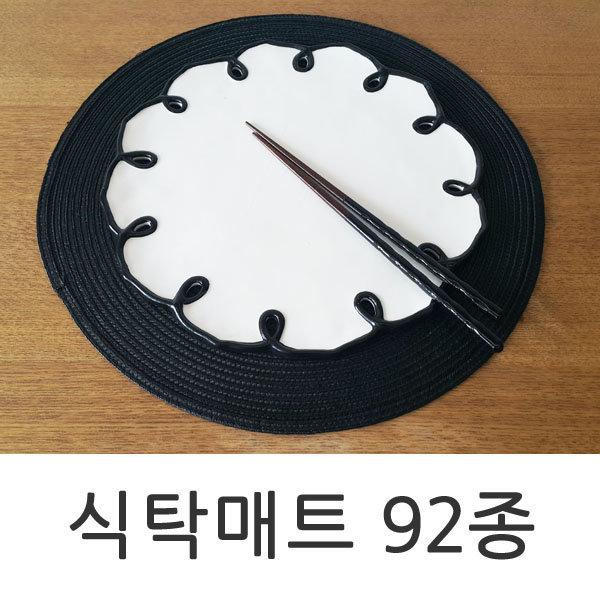 안젤라홈식탁매트테이블레이스자수러너pvc투명매트