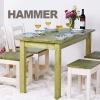 해머 원목 식탁/티테이블/4인용/2인용/세트/카페/의자