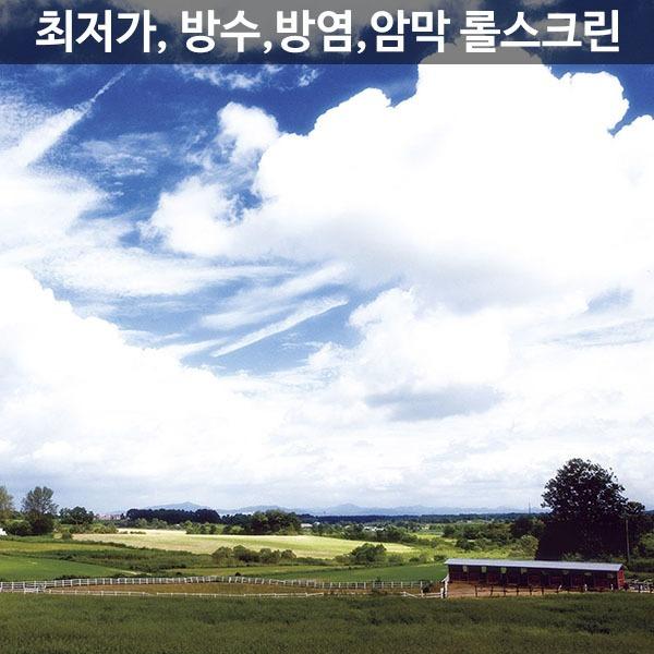 실사롤스크린/산들구름/방수/방염/친환경/맞춤제작