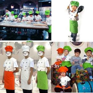 꼬마요리사앞치마세트/요리사복/아동앞치마/요리모자