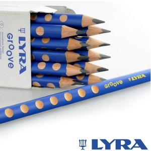 LYRA 리라 그루브 슬림 연필 12자루 / 글씨교정기