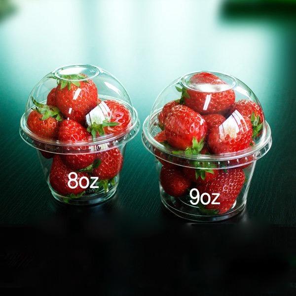 과일 디저트 포장용 컵/투명용기/4 8 9온스/투명컵