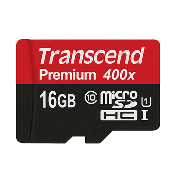 트랜센드 microSDHC Class10 Premium 400X UHS-I 16GB