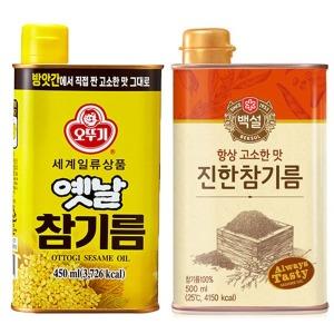 오뚜기옛날 참기름 450ml/백설 고소한 들기름 식용유