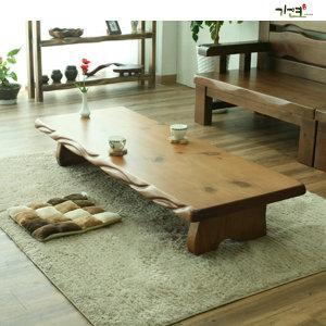 가연 꽈베기통원목좌탁/원목테이블/원목탁자/좌식책상