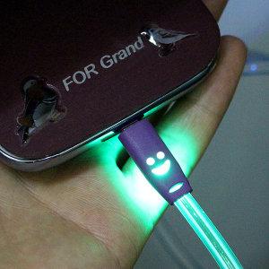 (오디스샵) USB 레인보우 5핀 케이블/단체 선물용 스