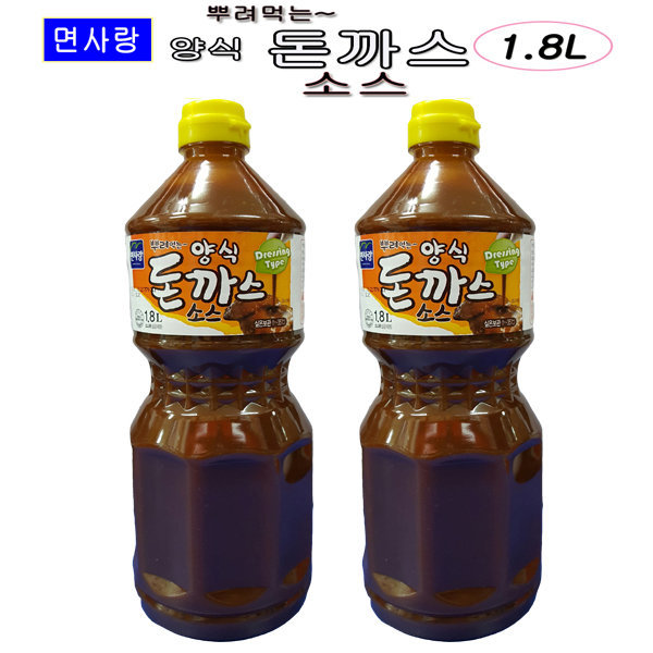 (yk식자재)면사랑 양식돈까스소스 1.8L/소스/돈까스