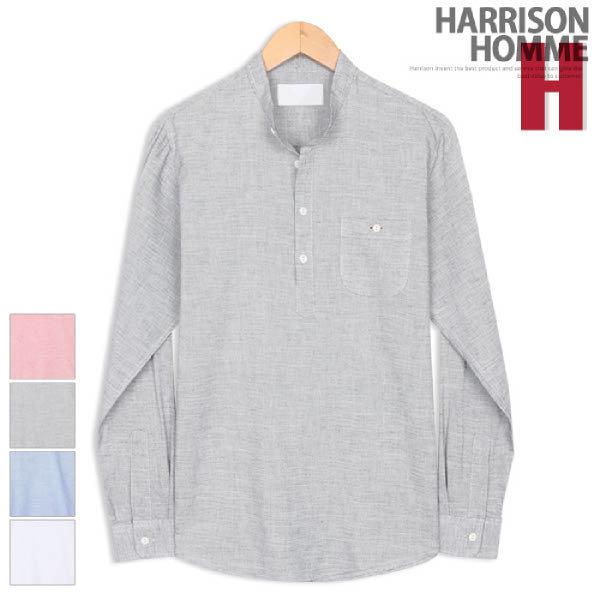 (현대Hmall) 해리슨  블루 린넨 헨리넥 셔츠 MTH1148
