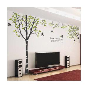 (현대Hmall) 꾸밈 ph152-새들이있는자작나무숲_포인트스티커 바보사랑