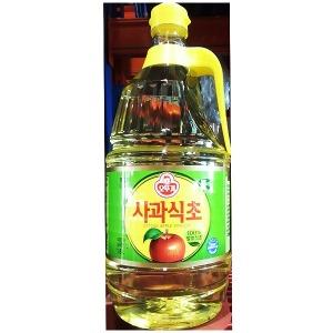 사과식초(오뚜기 1.8L)X6/솔잎식초/식초병/식초세제/