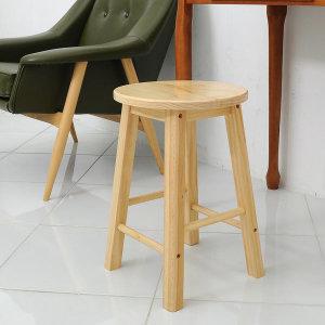 원목 홈바의자 소형 스툴 식탁의자 카페의자 간이의자