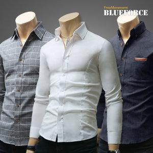 봄신상 남방/데님청남자옷/체크스판셔츠