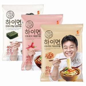 삼립 하이면우동3종 3개 골라담기 (김맛 매콤 가쓰오)