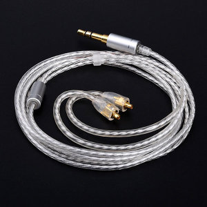 MMCX 슈어 은도금 케이블 커스텀 교체 이어폰