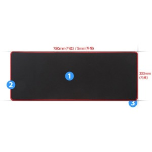 장패드 인쇄 가능 마우스패드 4mm 방수 키보드패드