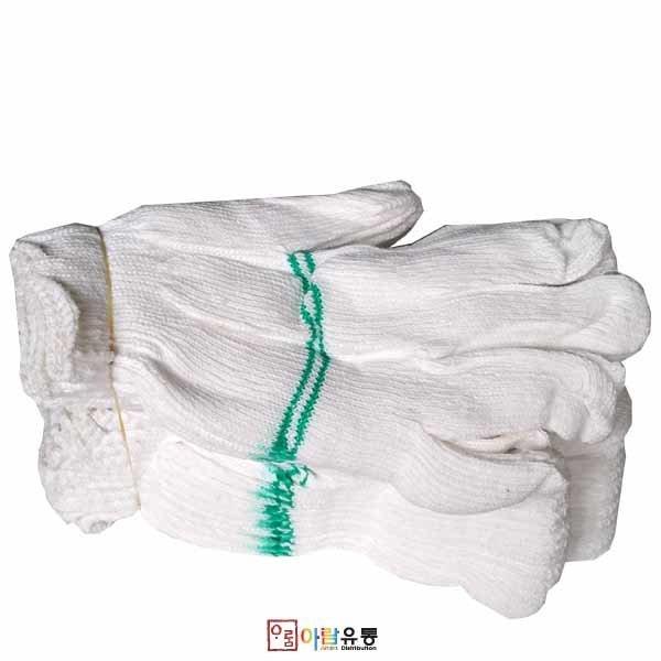 표백장갑(두줄면장갑)ㅡ국산 x 10컬레