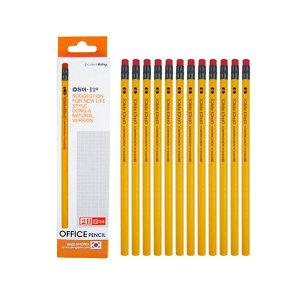동아 오피스 지우개 연필 12본 2B (국내생산)