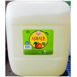식초(사과 오뚜기 18L) 맛 막 말통 양조 대용량
