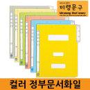컬러폴더 컬러화일 정부문서파일 화일 10개입 A4