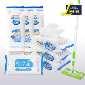 리벤스 막대걸레+물걸레 청소포 60매/청소포리필
