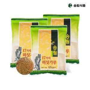 송림식품 17곡 미숫가루1kg x 3봉/신선함가득/검은콩