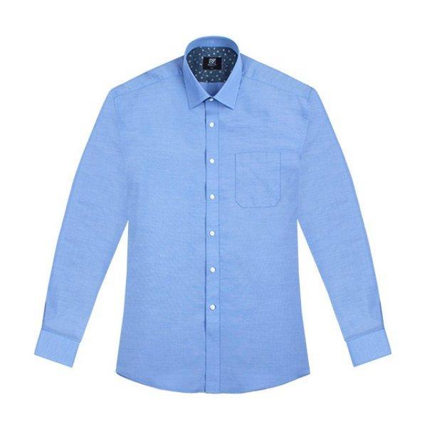 남성셔츠 링클프리 모달 파란색셔츠