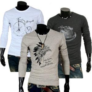 쇼군 긴팔티셔츠/긴팔티/티셔츠/기본티/티/남자티셔츠