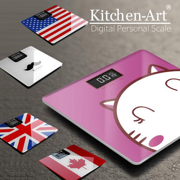 키친아트 디지털체중계 5종/온도계 기능/배터리 포함
